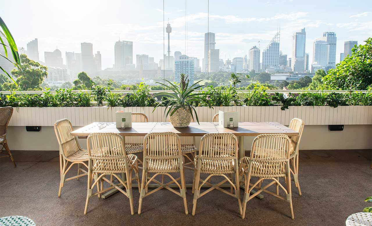 New terrace bar the butler opens in potts point concrete for The terrace bar and food